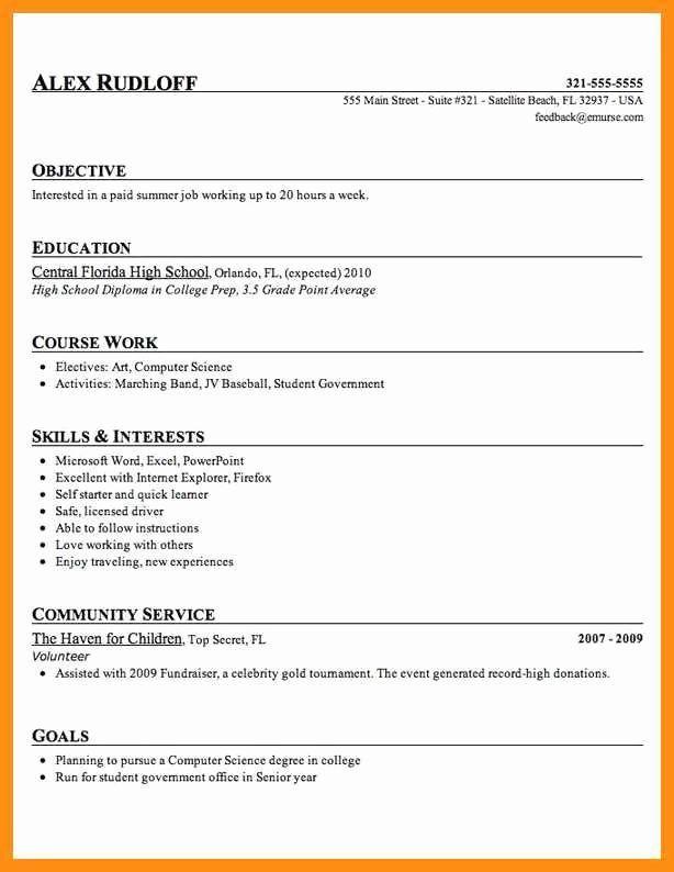 High School Diploma On Resume Elegant 9 10 High School Diploma On