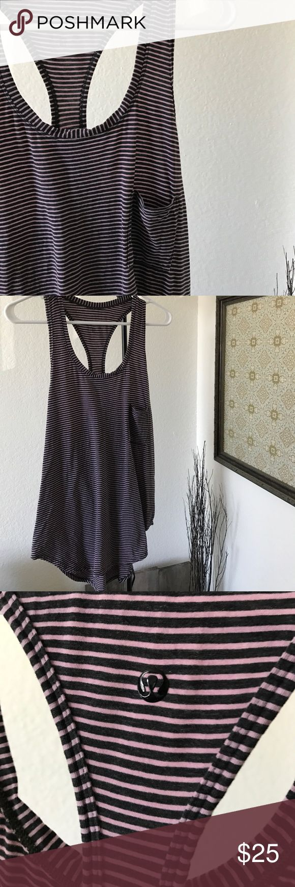 Lululemon Loose Tank Top Lululemon Tank Top - loose fit. No tag but is a size 6. Great condition! lululemon athletica Tops Tank Tops