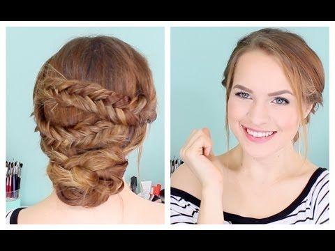 How to Do an Easy Fishtailed Updo - YouTube