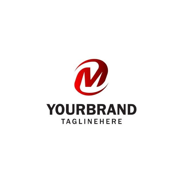 Huruf M Putaran Template Konsep Desain Logo Rotasi Logo Design Lettering Minimal Logo Design