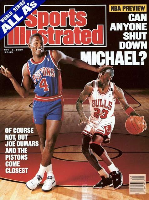 Sports Magazine Covers: Joe Dumars and Michael Jordan