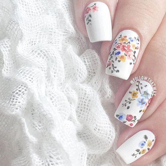 30 Diseños de uñas decoradas con flores   Decoración de Uñas - Manicura y Nail Art