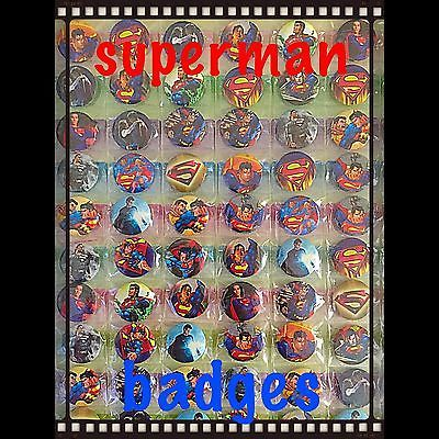 Superman Birthday Party Badges Set Of 15. Party Bag Fillers
