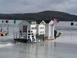 Image result for maine ice fishing shelter sno pro
