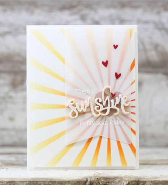 Sunshine In My Soul Card by Laurie Willison for Papertrey Ink (May 2016)