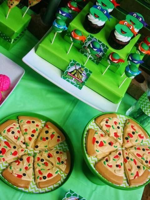 Espectaculares ideas para fiesta de Las Tortugas Ninja Mutantes Adolescentes