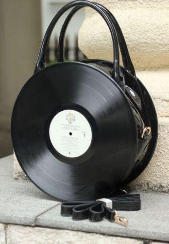 Lolita Retro Womens Round Handbag Harajuku Record bag Casual Bags shoulder bags