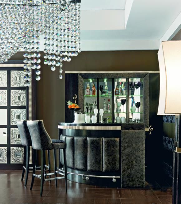 Home Bar Designs And Layouts: Home Bar - Just Without The Leather Panelling