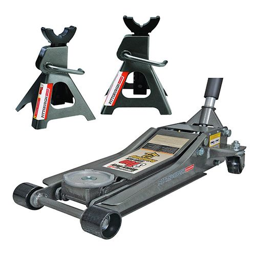Pittsburg 3 Ton Low Profile Floor Jack Set Combo With Rapid Pump Quick Lift Jack Stands Floor Jack Car Jack
