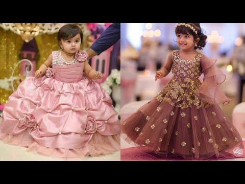 d873d638a227d Latest party gown for little girls Dresses designs for kids Frill frock designs  ideas for wedding - YouTube