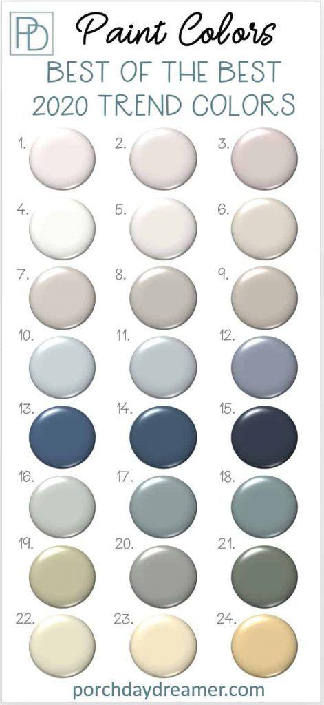 2020 Paint Color Trends 24 Best Of The Best Picks