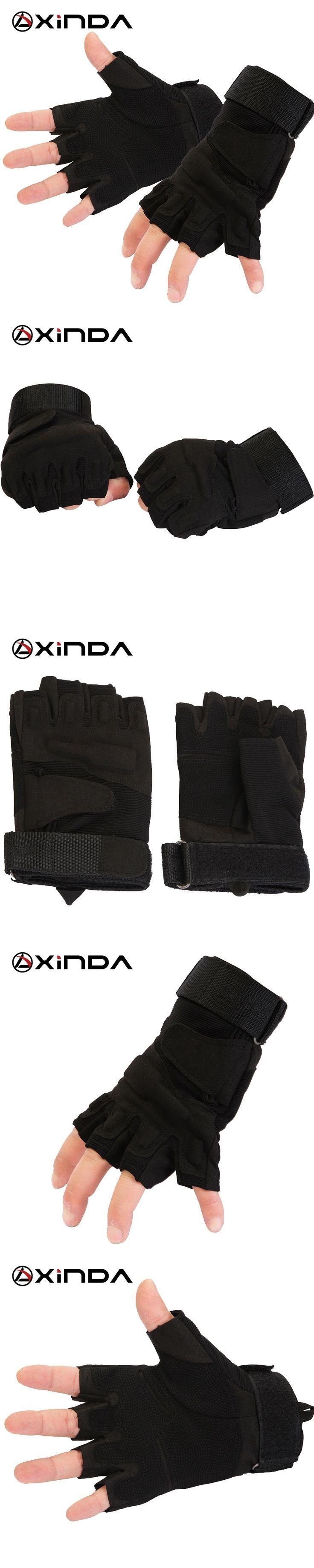 Top Quality XINDA professional Outdoor Sports Half Finger Tatics Gloves Rock Climb Downhill Hiking Riding Anti Slip gloves