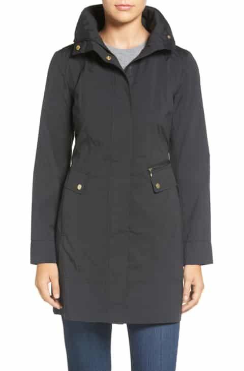 Reduce Cole Haan Signature Back Bow Packable Hooded Raincoat (Regular    Petite) b5fbd25d0