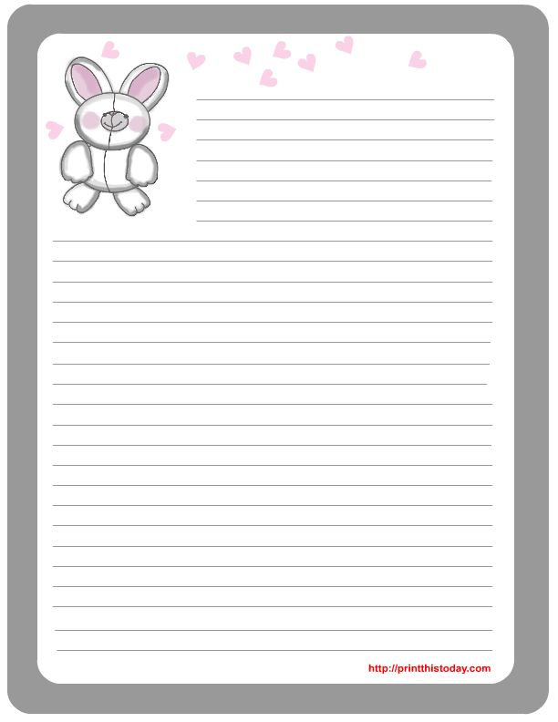 104 best easter stationery images on pinterest page for Letter to easter bunny template