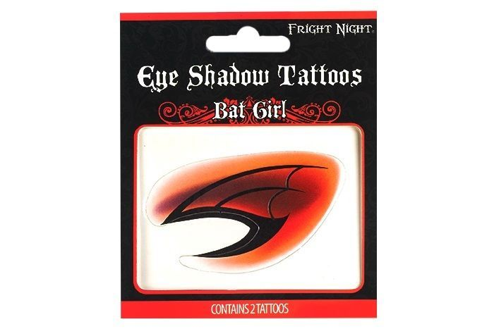 Fright Night Halloween Eye Shadow Tattoos - BAT GIRL - 2 Tattoos #FrightNight