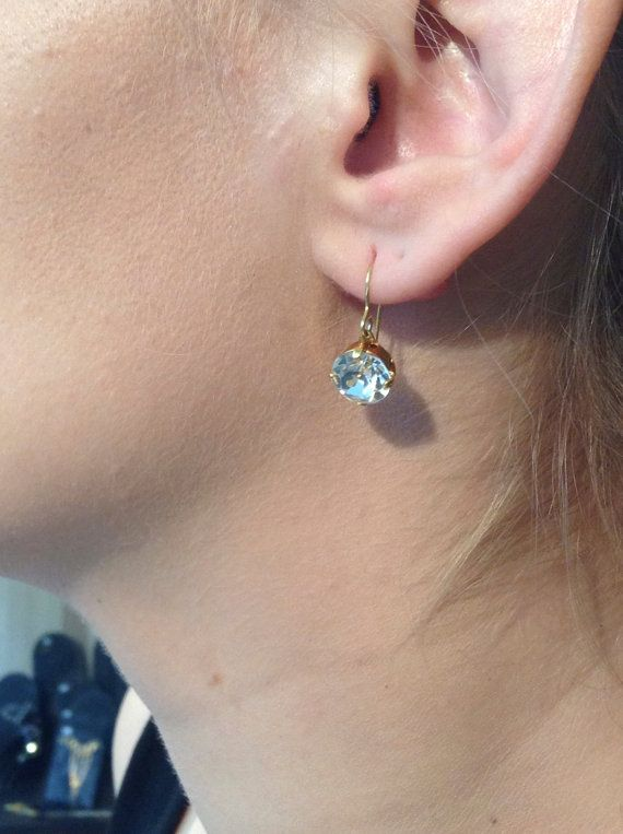 Silver OR Gold Plated Swarovski Earrings by ClarityGR on Etsy, €14.00