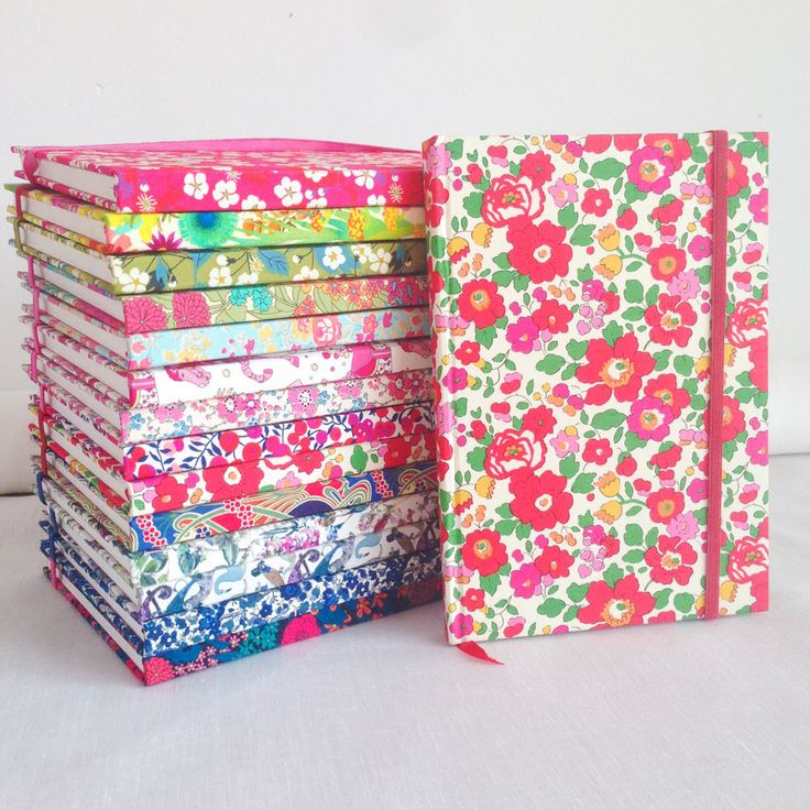 Gorgeous Liberty notebooks by Alice Caroline