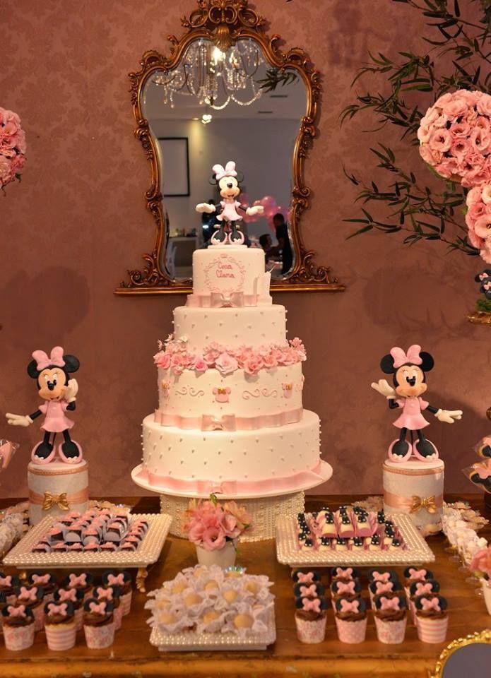 Bolo Minnie Rosa Inspire sua Festa 18