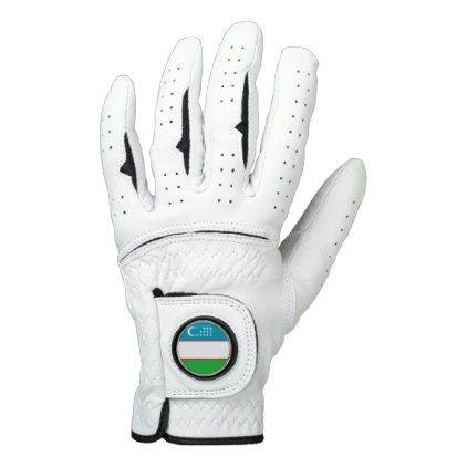 Uzbekistan Flag Golf Glove - diy cyo customize create your own personalize