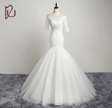 DAW1952 Vestido de Casamento Por Atacado-Sexy Bandagem vestido de noiva strapless applique Branco tribunal vestidos de casamento de luxo alishoppbrasil