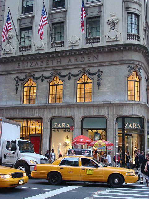 Elizabeth Arden & Zara on 5th Avenue, NYC.