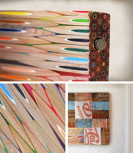 colored pencil wood