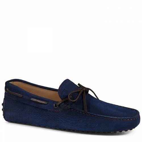 Prezzi e Sconti: #Tod's gommino mocassino in pelle Blu/marrone  ad Euro 320.00 in #Tods #Abbigliamento e accessori scarpe