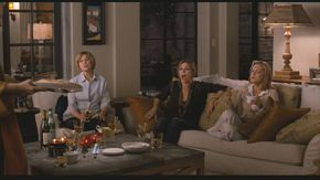Jane's friends were played by Mary Kay Place (a long-time friend of Nancy Meyers'), Rita Wilson (who isMeryl Streep's friend in real life), and Alexandra Wentworth.