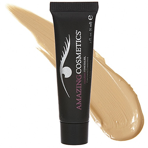 Amazing Cosmetics' concealer. I manage a beauty store and one day a beautiful high school girl came in with deep acne scars on her cheeks. We dabbed a bit of this on with a blender ball and finished with full coverage powder. It was life changing. She now walks with confidence everywhere she goes. Best client of my life. One of PB's favs.