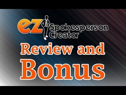 EZ Spokesperson Creator REVIEW   Todd Gross