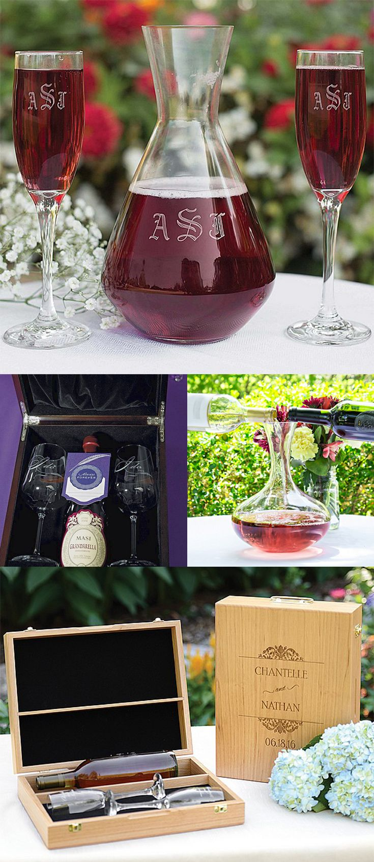 A wedding wine ceremony is a unique way for the bride and groom to exchange vows and celebrate their unity during their wedding ceremony. Wine decanter and wine glass sets can be personalized to create a lifetime keepsake that can be used for wedding anniversaries. Wine unity ceremony gift boxes also make wonderful heirloom-quality keepsakes for remembering and cherishing wedding vows. These wine ceremony sets can be ordered at…