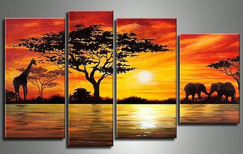 African Oil Painting