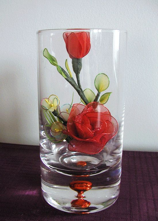 Handmade Small Red Roses Arrangement by LiYunFlora on Etsy, $25.00