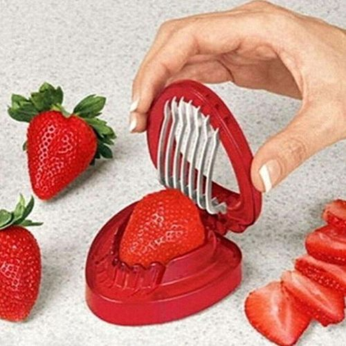 Hot! Strawberry Slicer Chopper Kitchen Cooking Gadgets Supplies Fruit Carving Tools Salad Cutter