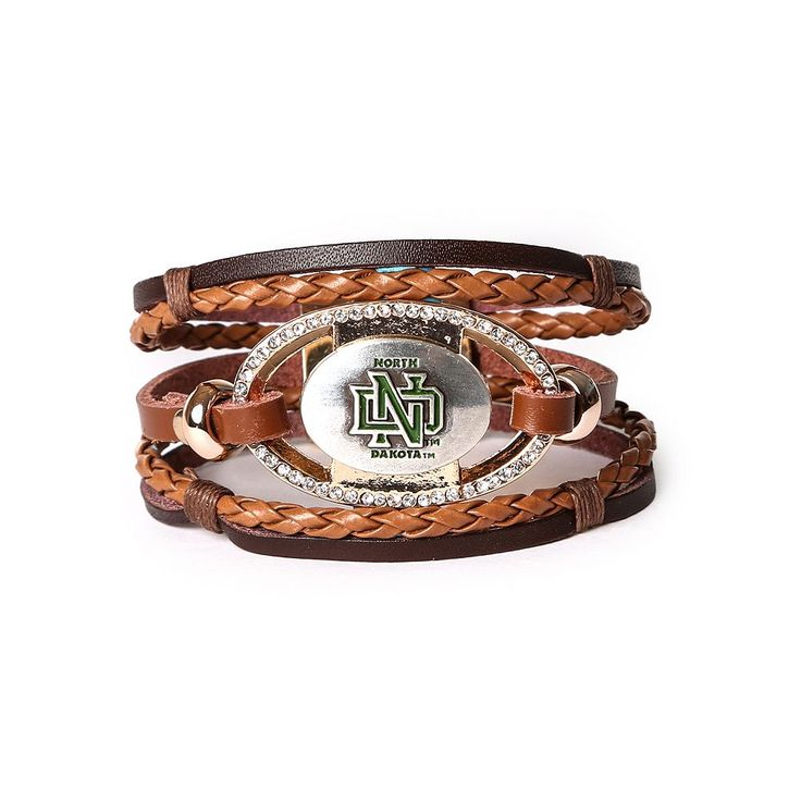 Women's North Dakota Fighting Hawks Bracelet Set, Brown