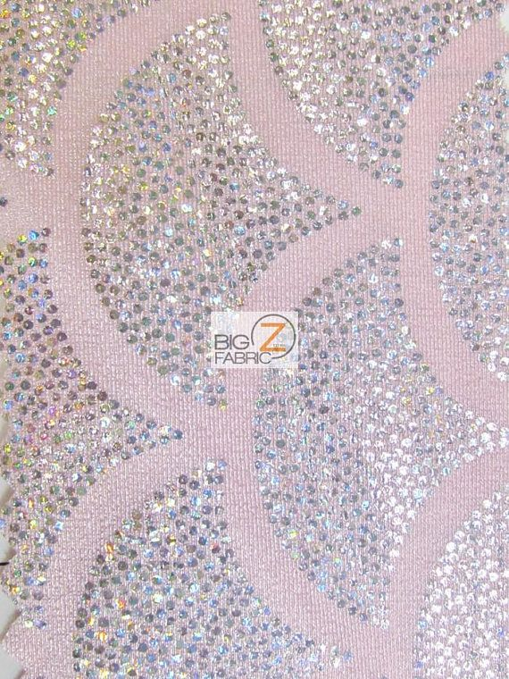 2 Tone Holographic Scale Spandex Fabric PINK/SILVER Sold