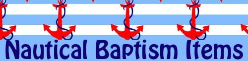 Yianna's Nautical Baptism Items Banner on website. Ahoy!