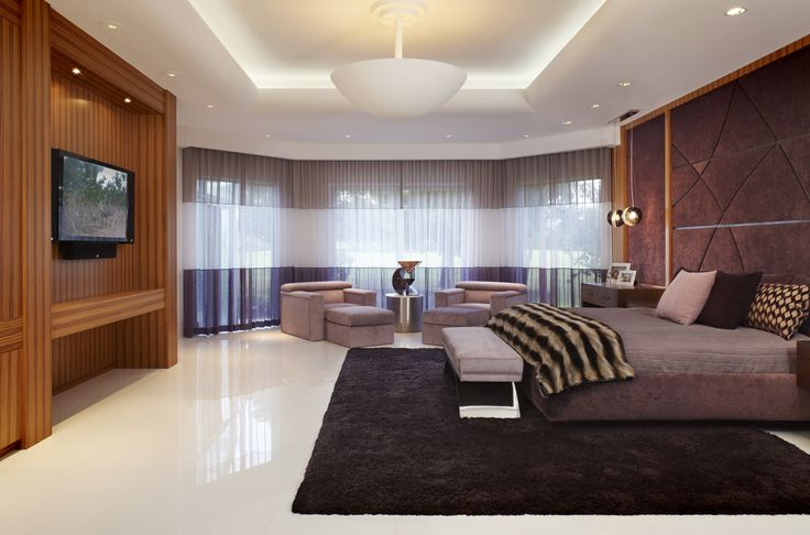 The Greatest Master Bedroom Images to Inspire You: fabulous master bedroom with snazzy furniture design equipped with exquisite wall units and seating area with awesome ceiling design