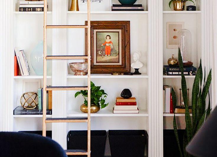25 beste idee n over boekenplank styling op pinterest boekenplank organisatie schappendecor - Idee deco eetsalon eigentijdse ...
