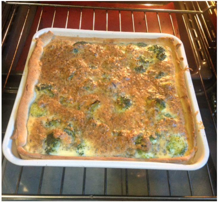 Een heerlijke hartige taart met broccoli. Heerlijk en simpel te bereiden!