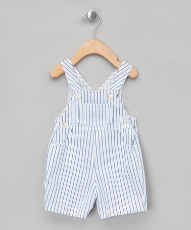 Take a look at this Blue Stripe Salopettes - Infant by Mariella Ferrari on #zulily today!
