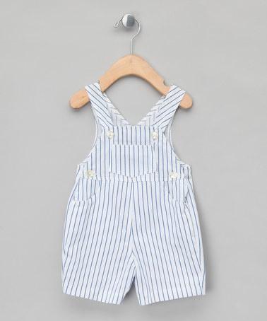 Blue Stripe Salopettes - Infant by Mariella Ferrari on #zulilyUK today!