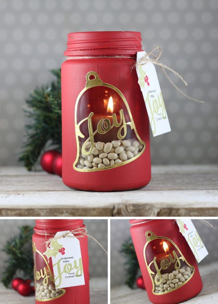 DIY Joy Bell Candle Holder