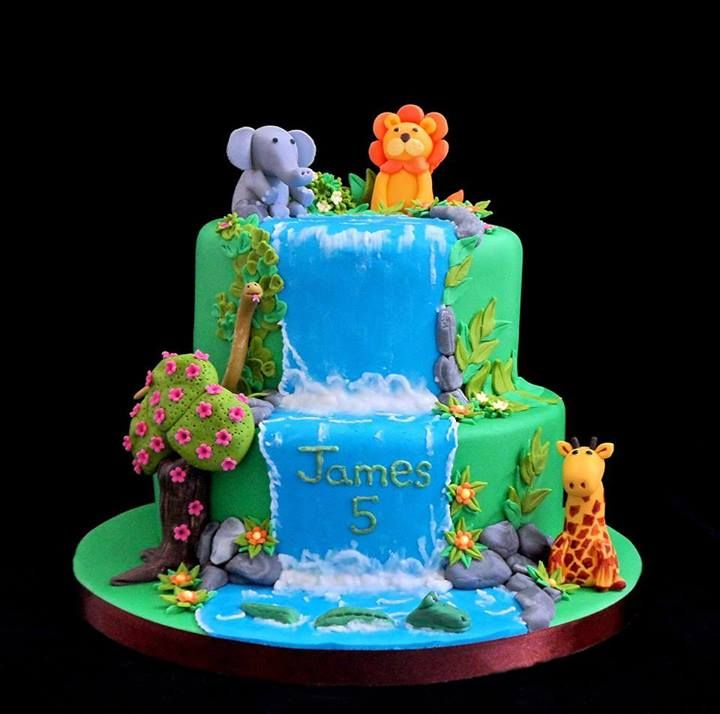 Cake Designs Jungle : 25+ best ideas about Jungle birthday cakes on Pinterest ...