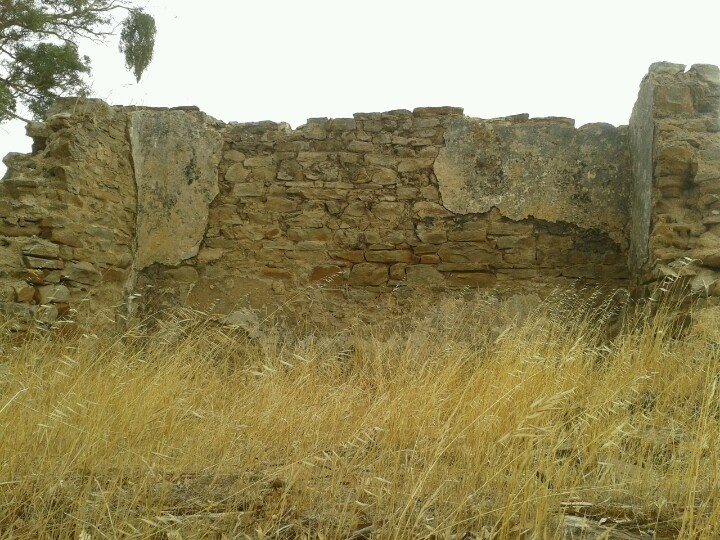 Ruined old stone cottage near settlement of Pewsey Vale in South Australia
