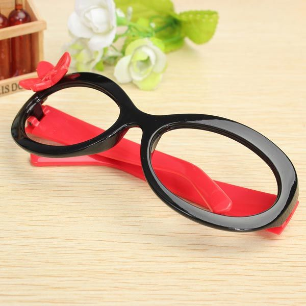 Sale 24% (2.52$) - Girls Kids Cute Flower Eyewear Glasses Frame Without Lenses