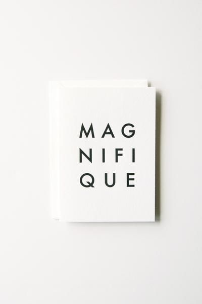In Haus Press Magnifique Card - single folded note card w/ envelope, 4bar (3.5