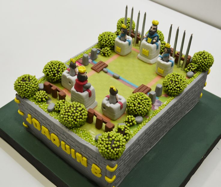 Torta Clash Royale Supercell #clashroyale #supercell                                                                                                                                                                                 Más