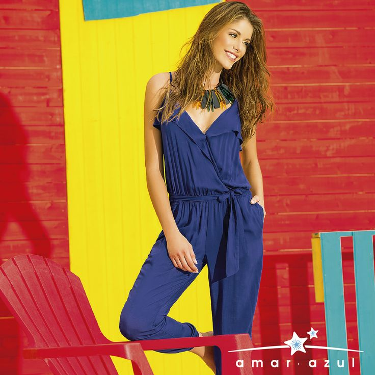 #Jumpsuit una tendencia en el #verano.  #beachwear #Cáftan #amarazulswimwear
