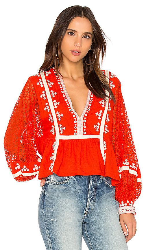 Shop for Free People Boogie All Night Blouse in Red at REVOLVE. Free 2-3 day shipping and returns, 30 day price match guarantee.